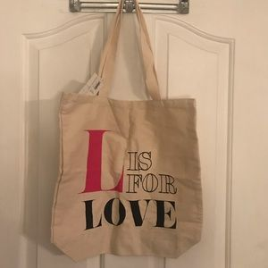 l is for love canvas old navy tote